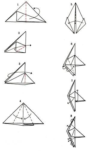Как сделать из бумаги петуха