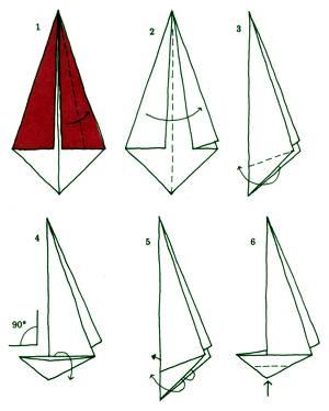 Как сделать кораблик с парусом из бумаги своими руками
