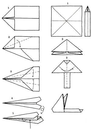Как сделать самолет стрелу