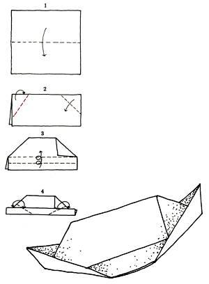 Шапка с загнутыми вверх краями из бумаги.